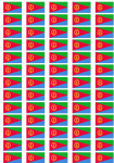 Eritrea Flag Stickers - 65 per sheet